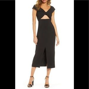 Finders keepers Mae front twist slit midi dress